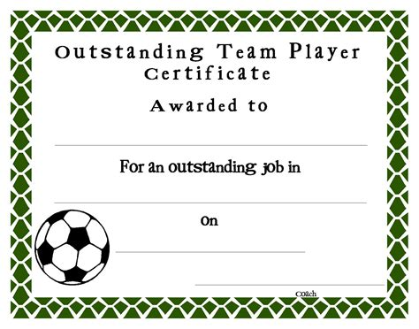 soccer certificate template index of user cimage