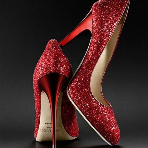 ruby slippers shoes now these are some ruby slippers by jimmy choo dear