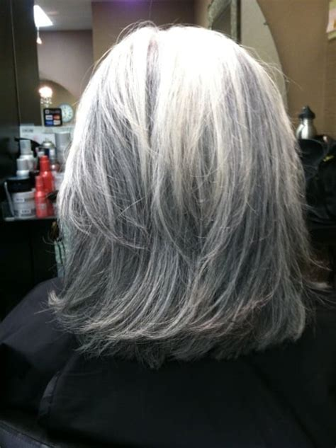 black lowlights in white gray hair gray hair with lowlights short hairstyle 2013