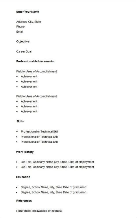 Basic Resume Format by Simple Resume Sle For Gentileforda