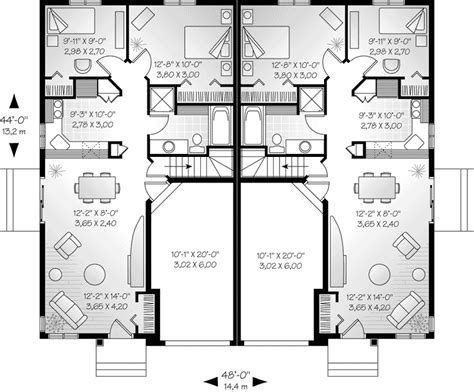 fourplex house plans numberedtype efficient duplex floor plans thefloors co