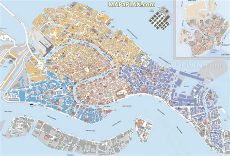 venice map venice map must see places to visit detailed streets districts travel plan