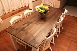 handbuilt farmhouse table
