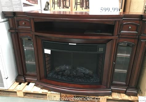 fireplaces electric costco well universal 72 quot electric fireplace media mantle