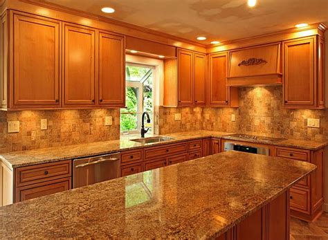 kitchen cabinets with light granite countertops nice granite countertops with light brown cabinets part 1