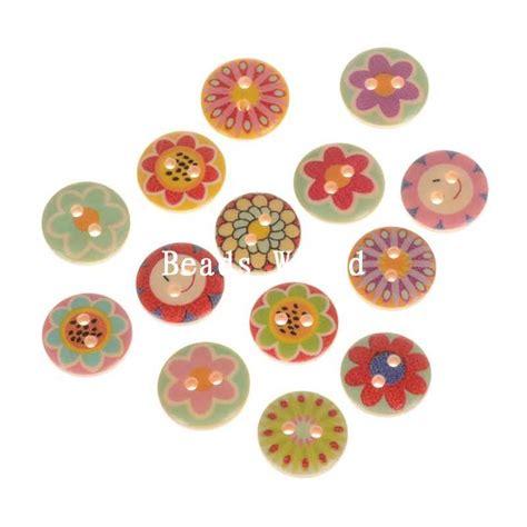 buy decorative buttons aliexpress buy 100 pcs mixed flower pattern wood