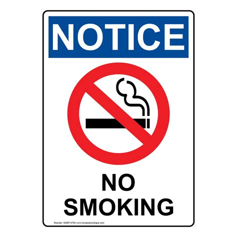no smoking signs and labels osha warning no smoking signs and labels surface mount