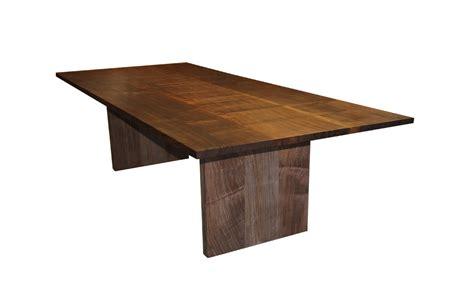 walnut dining table at the galleria