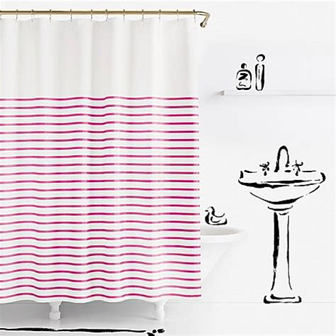 kate spade striped shower curtain kate spade new york harbour stripe shower curtain bed