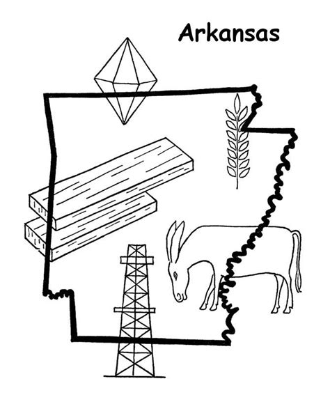 arkansas coloring page az coloring pages