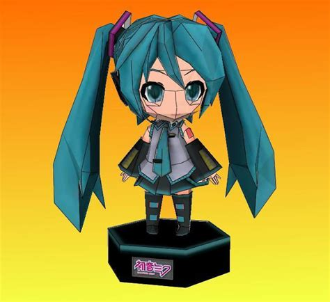Nendoroid Papercraft - papermau hatsune miku paper doll in nendoroid style by