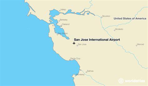 san jose international map san jose international airport sjc worldatlas