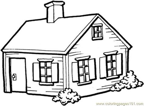 cottage house coloring page small house in the village coloring page free houses