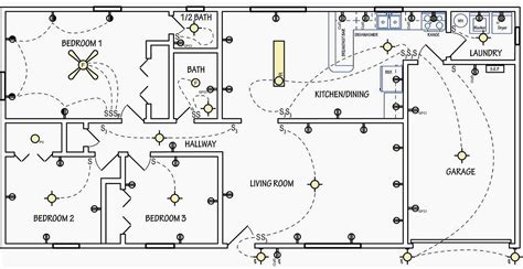 floor plan with electrical layout electrical symbols are used on home electrical wiring
