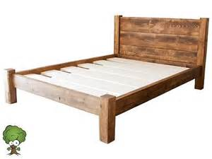 Solid Wood Bed Frame King Details About Solid Wood King Size Beds Frame W Wooden