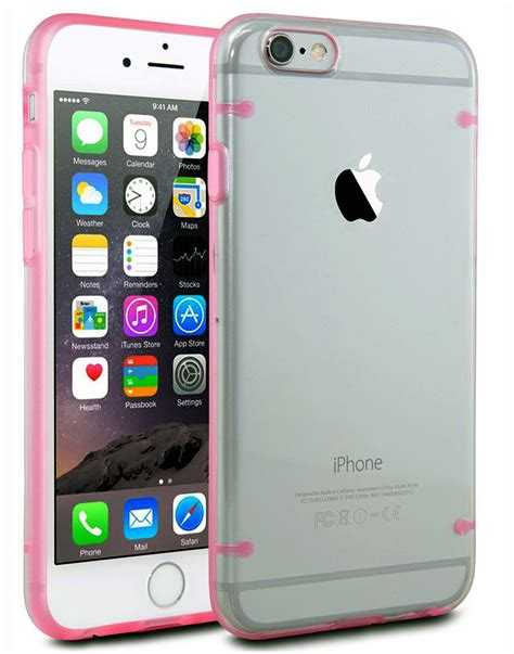 Ultrathin Softcase Iph 7 55 Pink ultra thin clear soft tpu cover pink for apple iphone 6 plus 5 5 quot