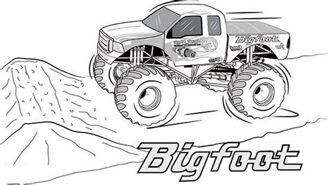 bigfoot truck coloring pages bigfoot truck coloring pages