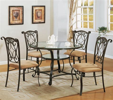 dining room table and chair sets crown dinette table with glass top and side