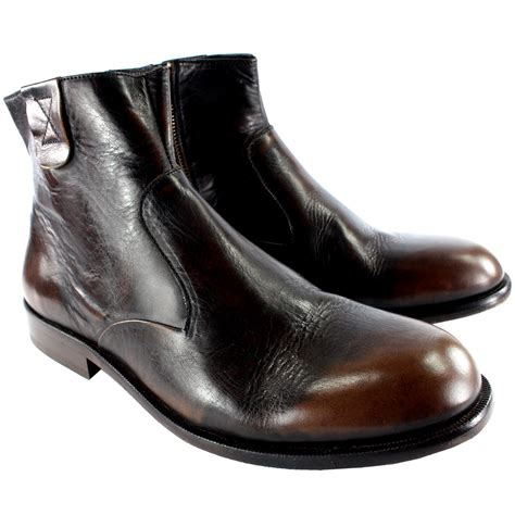 mens chelsea boots with side zip mens h by hudson haxton smart side zip leather chelsea