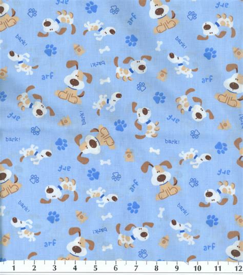 puppy fabric novelty cotton fabric bark at joann