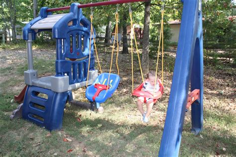 plastic swing and slide playset garden decor sweet picture of decorative blue and red