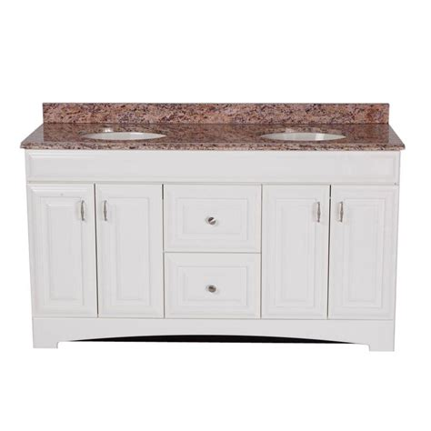 Effects Vanity Top by St Paul 60 In Providence Vanity In White With 61 In