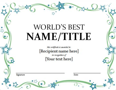 free school certificate templates for word word certificate template 51 free sles