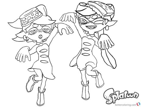 Splatoon 2 Coloring Pages by Splatoon Coloring Pages Lovely Callie And Lineart