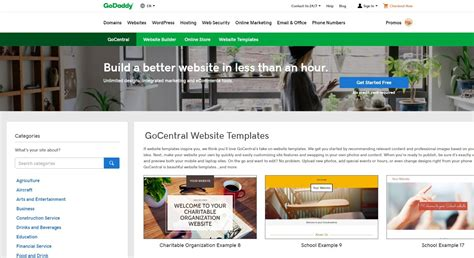 godaddy templates godaddy website builder templates choice image template
