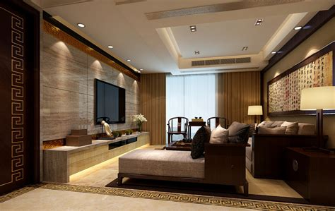 Interior design of high end chinese living room