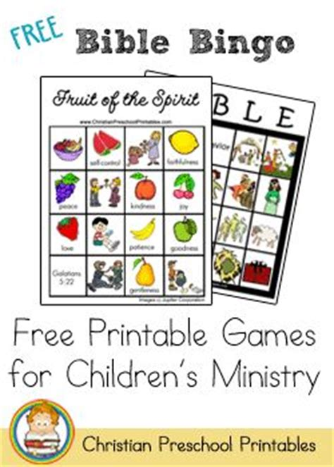 printable board games for sunday school bingo easter bingo and vbs themes on pinterest