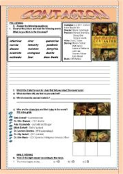 Contagion Worksheet Answers by Worksheets