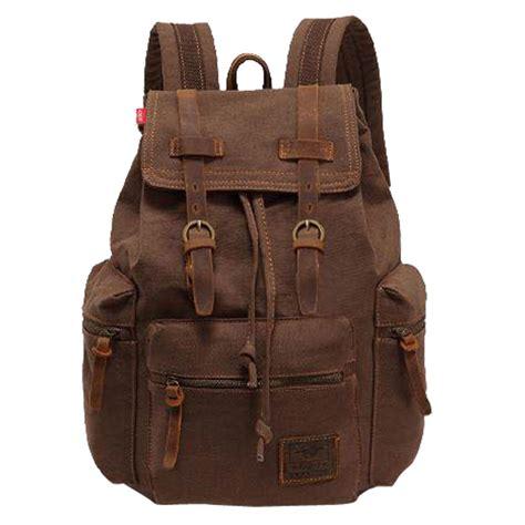 Bag Backpack vintage rucksack school bag satchel canvas backpack hiking bag travel ebay