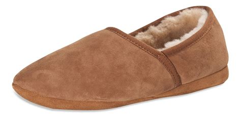 mens slippers soft sole nordvek premium mens genuine sheepskin slippers soft sole