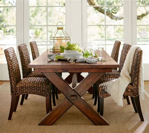 Seagrass Armchair Design Ideas Toscana Extending Dining Table Alfresco Brown Pottery Barn