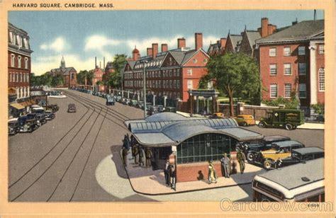 Post Office Harvard Square by Harvard Square Cambridge Ma Postcard