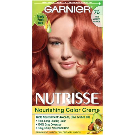 garnier hair colour models garnier 76 rich auburn blonde hot tamale nourishing