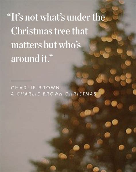 charlie brown christmas its not whats under the tree quote 15 quotes to spread cheer purewow