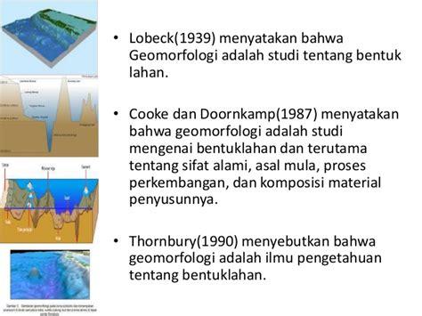 bio fisika adalah teori terbentuknya laut geomorfologi laut proses fisika