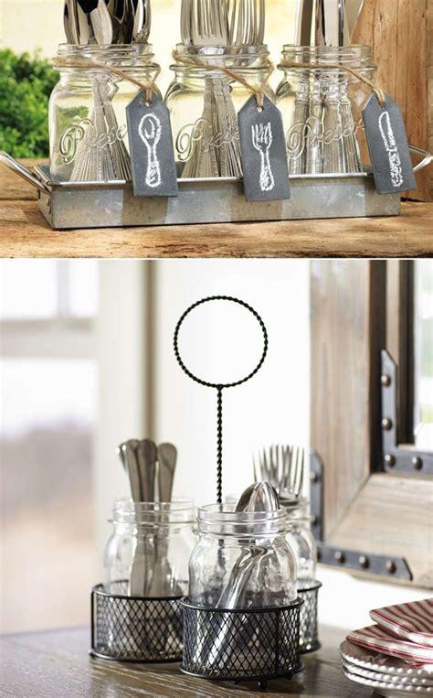 Living Room Design Ideas For Apartments Repurpose Mason Jars Flatware Storage