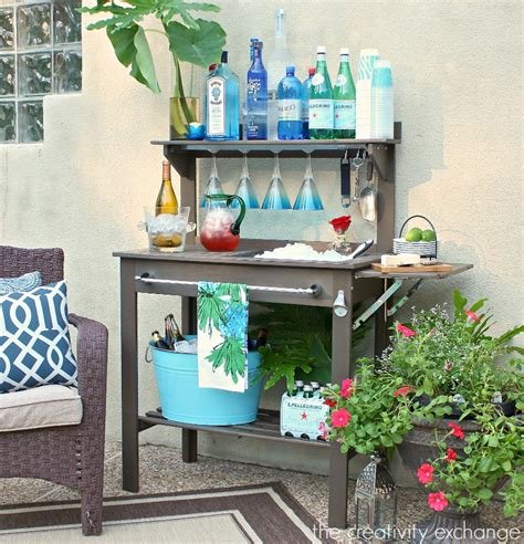 inexpensive potting bench convert a potting bench into an outside bar renocompare