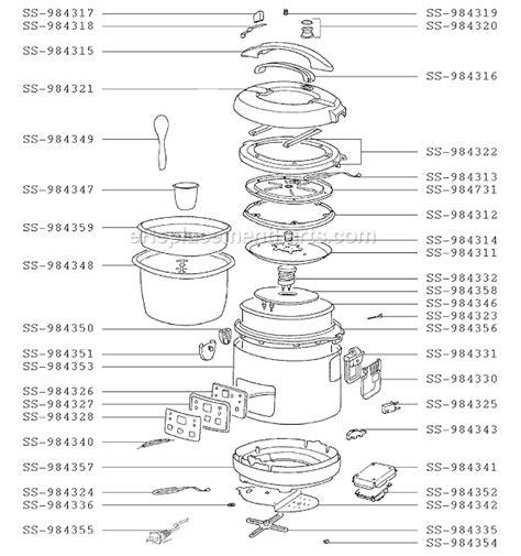 wiring diagram electric rice cooker datasheet circuit