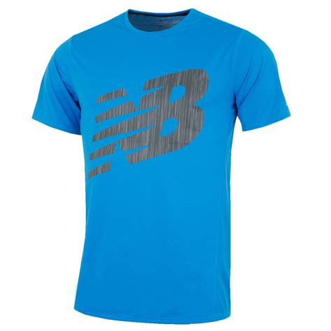 New Balance Shirt Crymson new balance mens accelerate ss graphic t shirt reflective athletic fit ebay