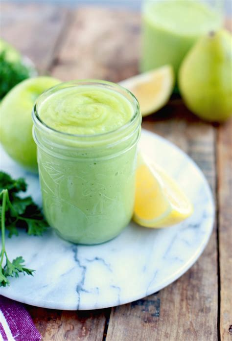 Parsley Detox Smoothie Recipe by Green Apple Pear Parsley Cleansing Smoothie
