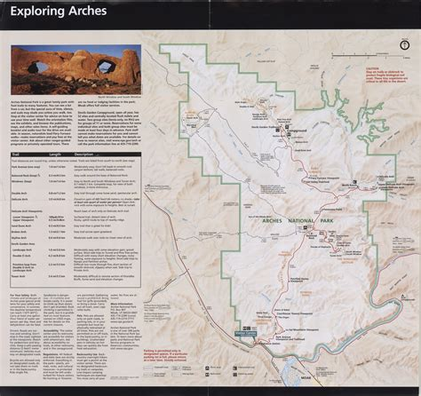 arches national park map national park maps