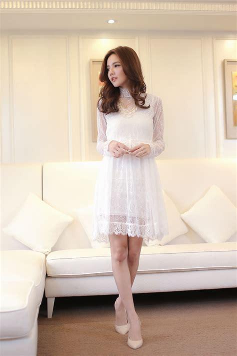 Dress Mayuki mayuki womens sheer lace dress with high collar japanese