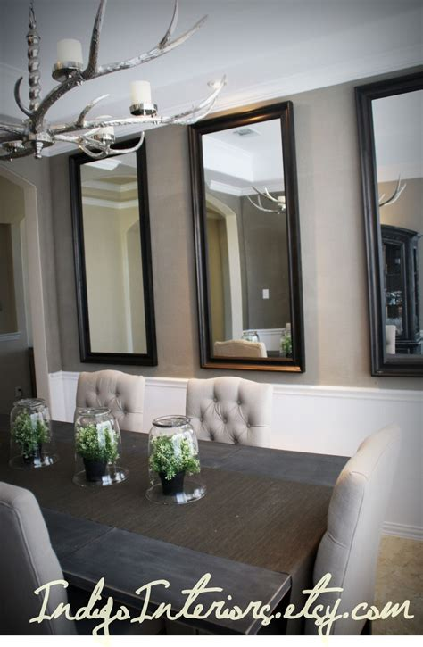 mirrors for room make a statement in the dining room with three large mirrors hanging vertically dining rooms