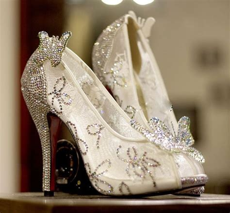 cinderella glass slipper wedding shoes 207 best images about butterfly fashion on