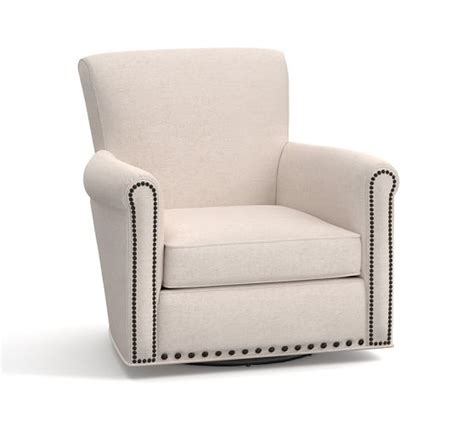 swivel armchairs upholstered irving upholstered swivel armchair with nailheads