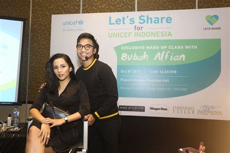 Make Up Bubah Alfian bubah alfian make up class with let s and unicef indonesia plaza indonesia indonesia